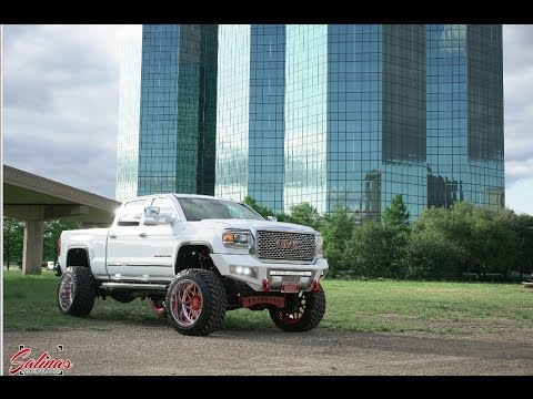SUPER NICE 2015 GMC Denali HD Duramax with 8 inch FTS on 24x14 Specialty wheels, KING shocks!
