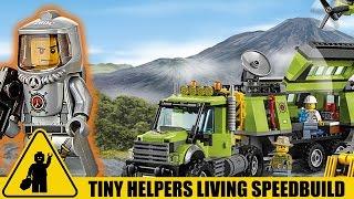 LEGO Volcano Exploration Base Speedbuild - With TINY HELPERS! (Set 60124)