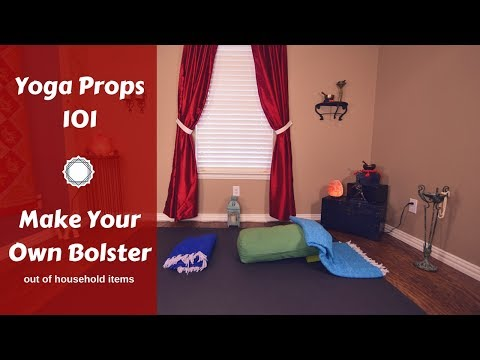How to Make a Restorative Bolster with Household Items   DIY Yoga Props