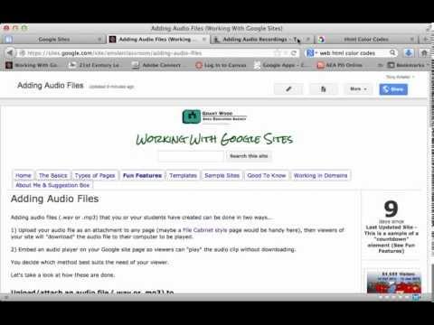 Adding Audio Files to a Google Site
