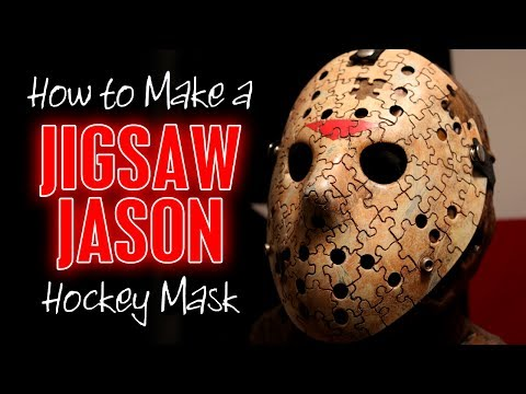 """Making a """"Jigsaw Jason"""" Hockey Mask - Friday the 13th DIY Tutorial"""