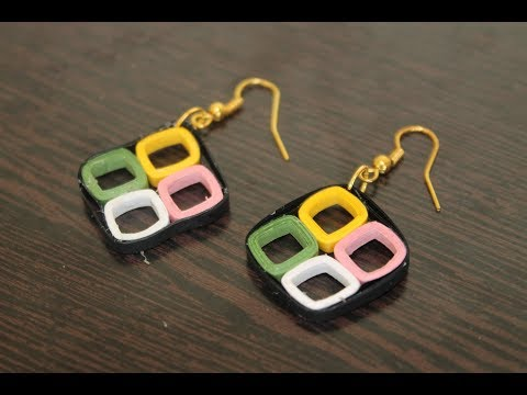 DIY Quilled Earrings | Easy Handmade Jewelry | How to make earrings at home