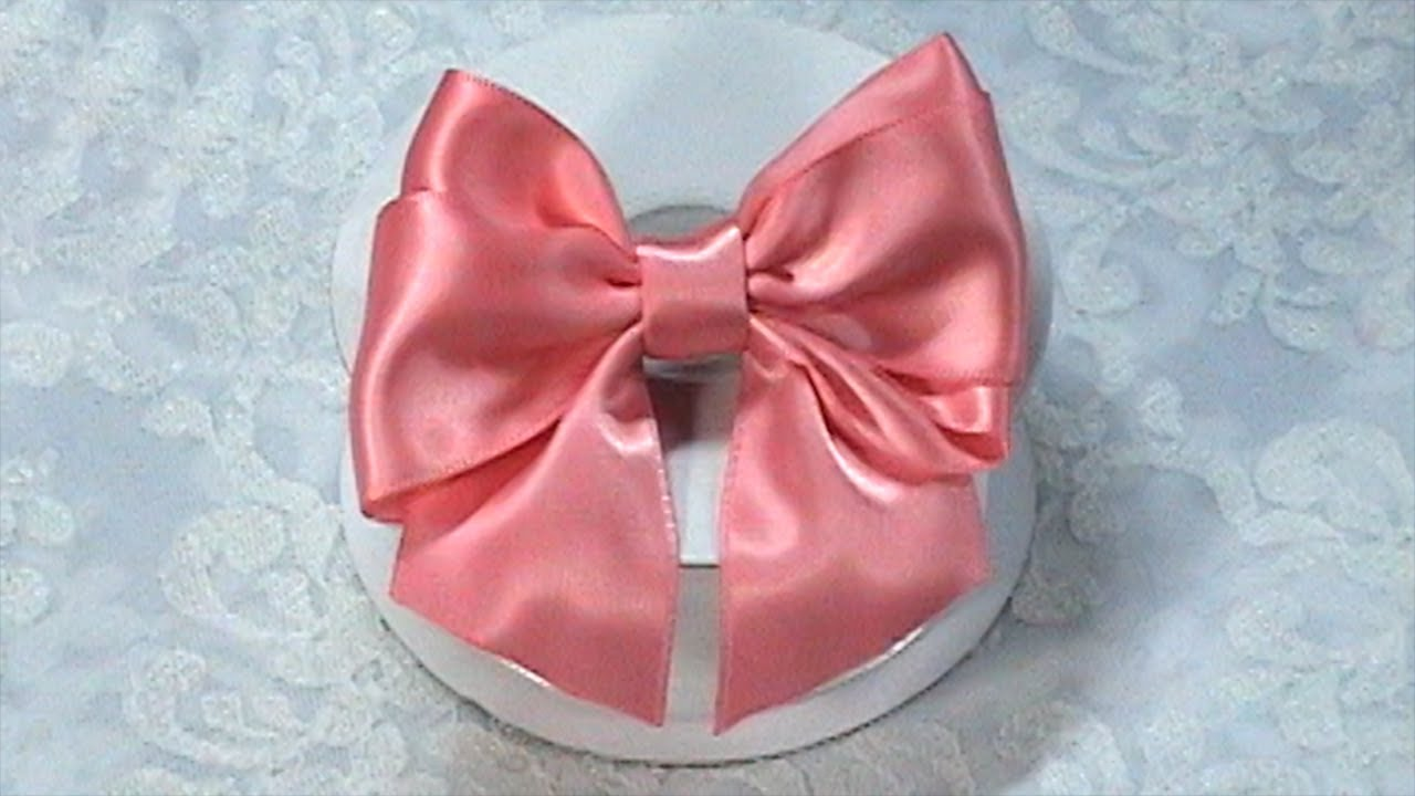 diy ribbon bow make hair