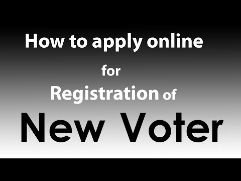 How To Apply Online  For Registration Of New Voter