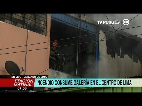 Cercado de Lima: incendio afecta varios puestos en galería