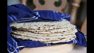 Simple Oat Wraps with a cast Iron Skillet by Trinity (vegan, gluten-free)