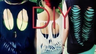 Diy Cutout T-shirts Easy Skull & Skeleton Heart Designs {how To Make}