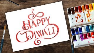 How to draw diwali greeting   happy diwali greeting card  diwali greeting cards for kids