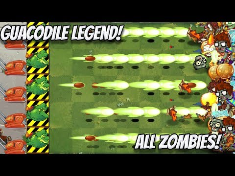 Plants vs Zombies 2 Epic Hack: Guacodile Legend vs All Freakin Zombies