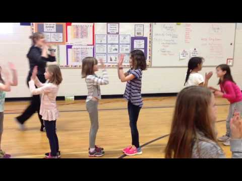 Partner Dance to the song Buffalo Gals - Elementary