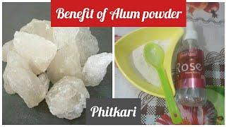 phitkari (Alum) ke benefits,skin whitening,hair hand and foot swollen,and under arms smell