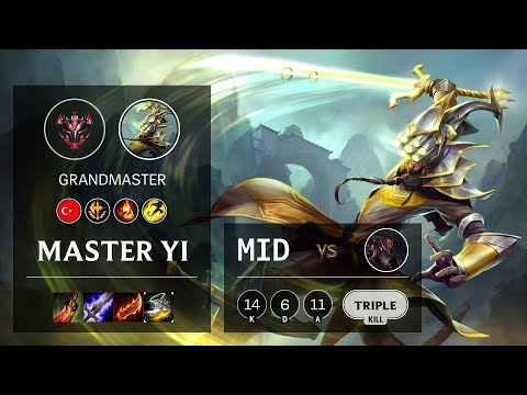 Master Yi Mid Vs Lucian - TR Grandmaster Patch 10.12