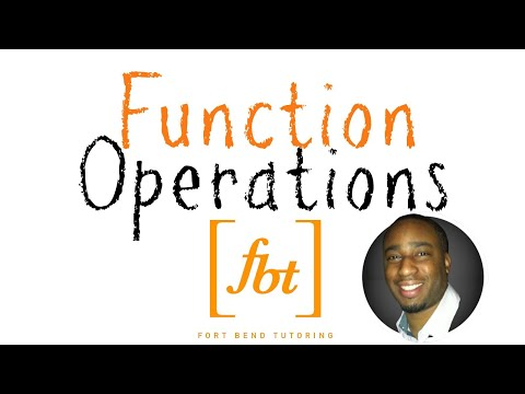 Function Operations +−×÷ [fbt] (Operations on Functions)