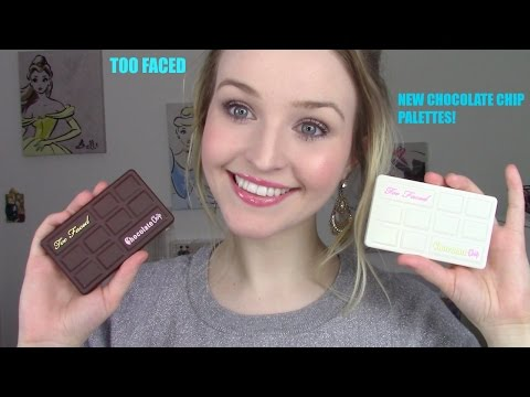 Too Faced - White Chocolate Chip & Matte Chocolate Chip Palettes! Review, Swatches, & Comparison!
