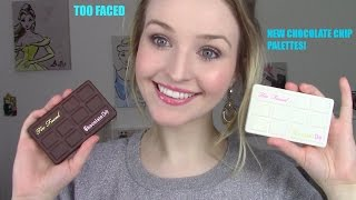 too faced white chocolate chip matte chocolate chip palettes review swatches comparison