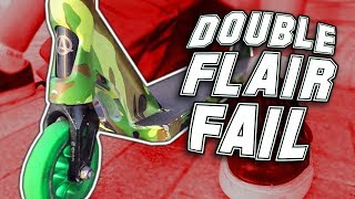 INSANE DOUBLE FLAIR FAIL AT PRO SCOOTER COMP