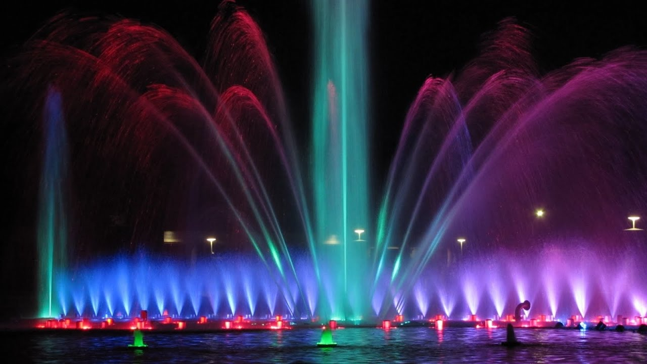 Dancing Water Fountain With Music at Hatirjheel in Bangladesh