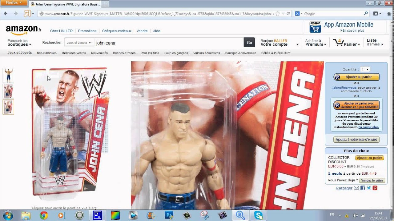 Mattel WWE John Cena Figure Signature Series W6409 Christmas gift shop