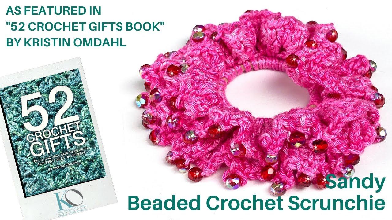 Pink Loopy Hair Scrunchie **Handmade**
