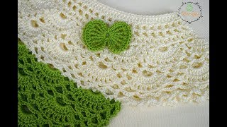 Gambar cover بلوزه كروشيه بناتي 2  how to crochet a blouse