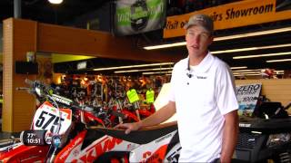 Nick Thompson prepares to race at 2015 X-Games