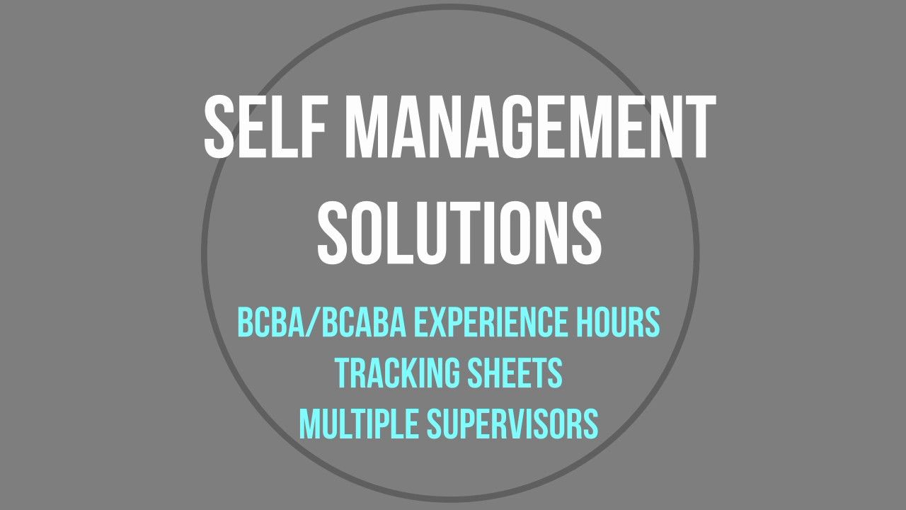 BCBA and BCaBA Tracking Forms (Multiple Supervisors)