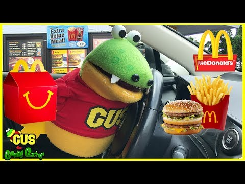 McDonalds Drive Thru! Gus gets Happy Meal Toys