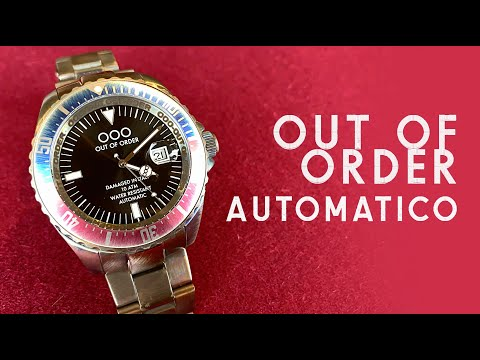 OOO AUTOMATICO - Out Of Order Watches - Damaged In Italy - Unboxing & Review Red/Blue Pepsi Bezel