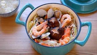 【小雪】高麗菜無水火鍋|一鍋到底|C2食光|節氣料理食譜|4K