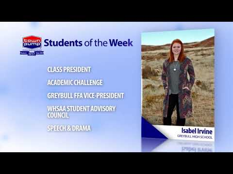 Students of the Week: Jeremy Lafollette and Isabel Irvine of Greybull High School