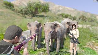 GTA 5 - Đi săn Voi ma mút trong GTA V (Elephant in GTA V)