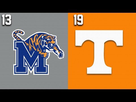 2019 College Basketball #13 Memphis Vs #19 Tennessee Highlights