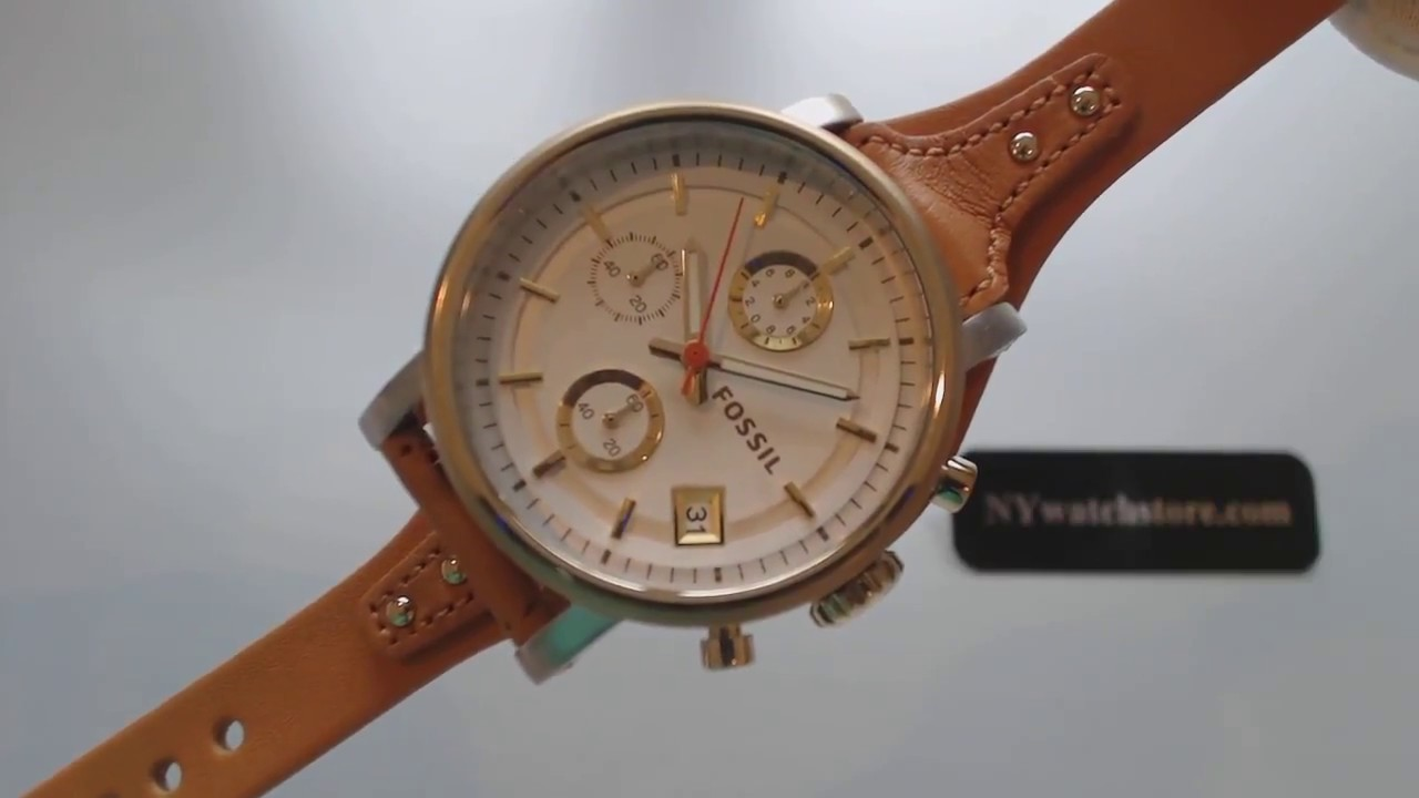 17f93f9b83c Women s Fossil Original Boyfriend Chronograph Watch ES3615 - YouTube