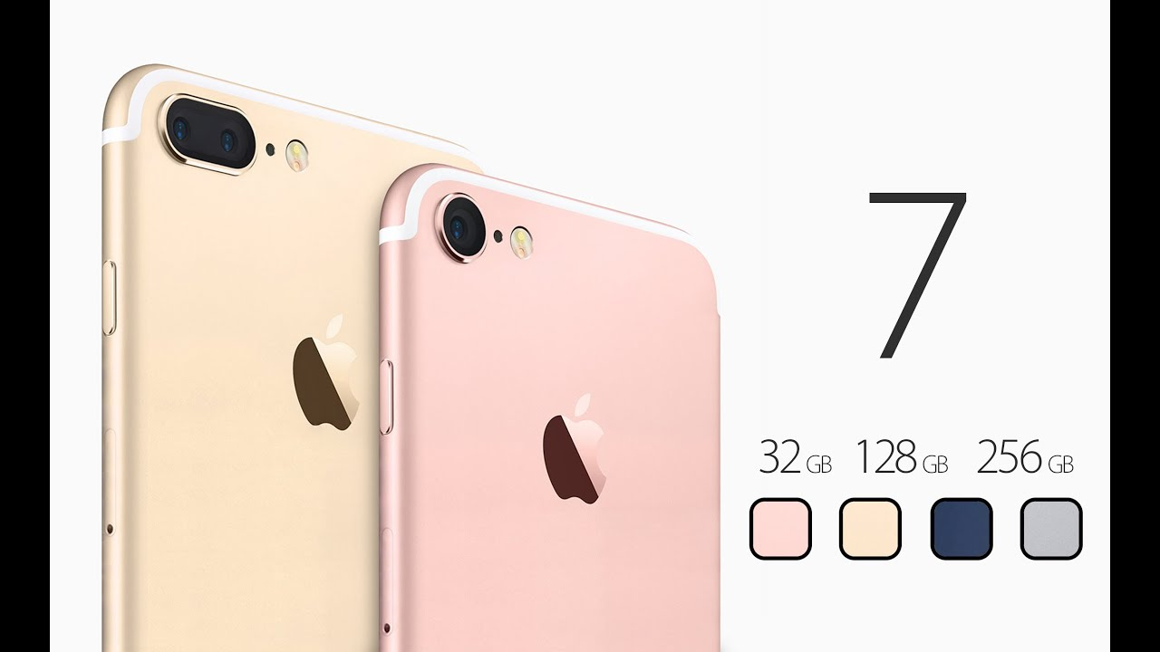 Iphone 7 Gold Vs Rose 7iphone Plus And Pro Specification
