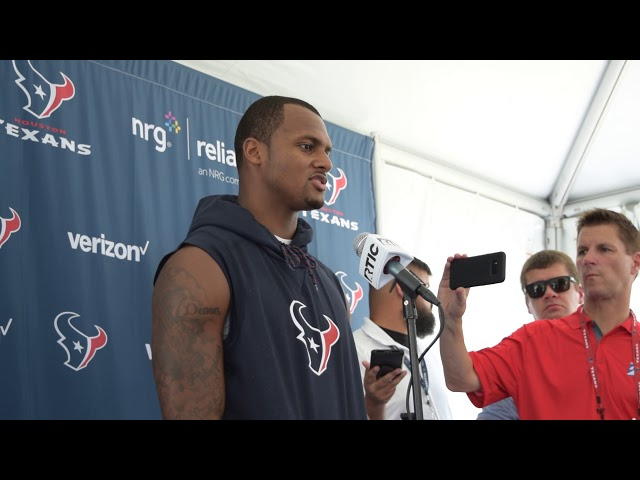 Deshaun Watson at Houston Texans Training Camp Day 1 2018