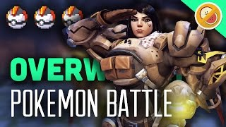 POKEWATCH #9 - TURN BASED COMBAT! Overwatch Custom Game Gameplay (Funny Moments)