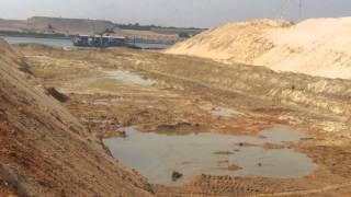 قناة السويس الجديدة : مشهد عام للحفر 30أكتوبر 2014
