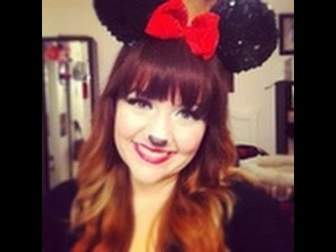 Minnie Mouse- Halloween Make Up Series - YouTube