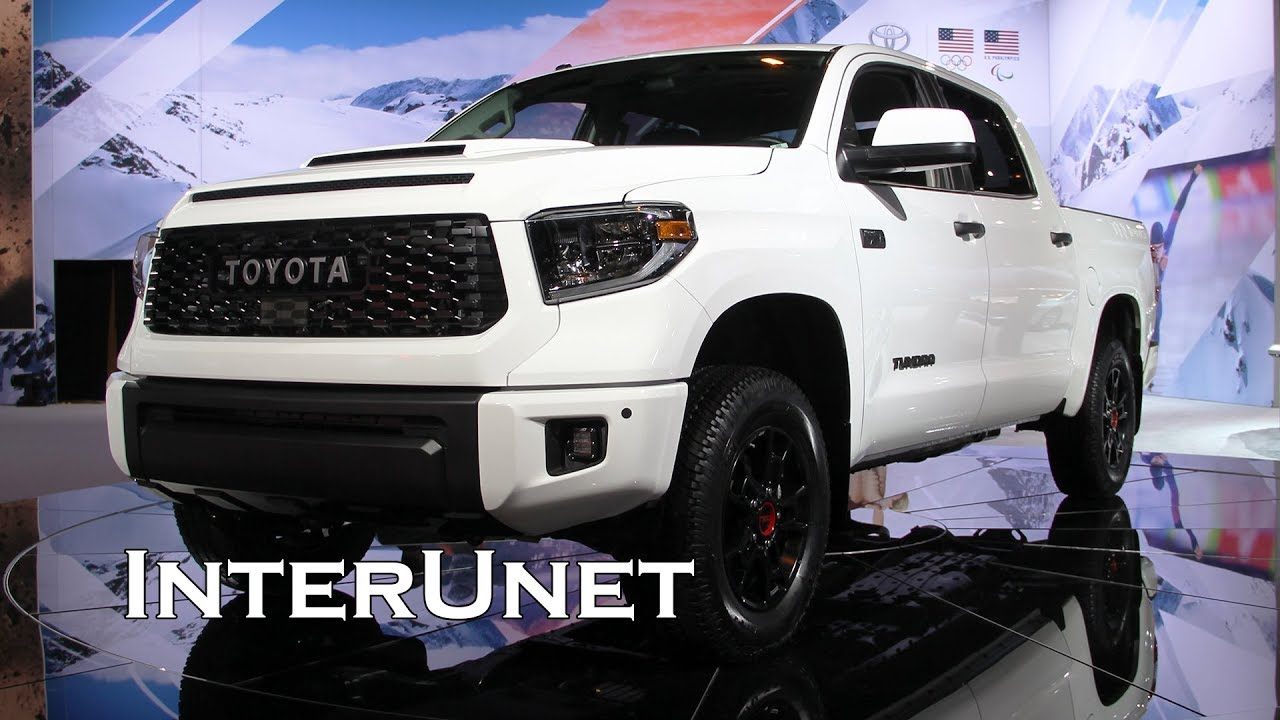 2019 Toyota Tundra Trd Pro 4x4 Full Size Truck Youtube