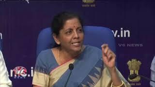 Union Finance Minister Nirmala Sitharaman Press Meet Over Briefing Indian Economy  Telugu News