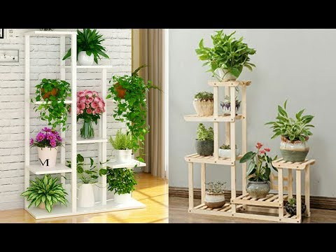 Home decoration wood indoor plant stand idea