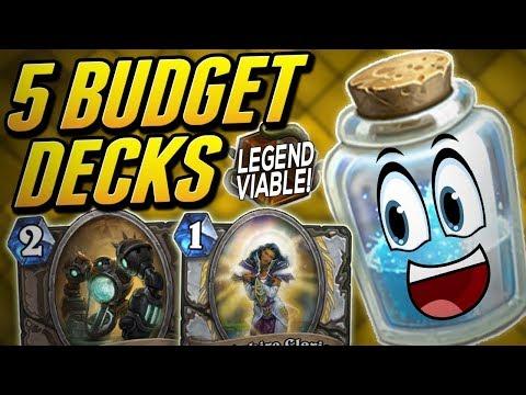 The 5 Cheapest Decks For Legend! | Budget Decks For Wild | Solem Hearthstone