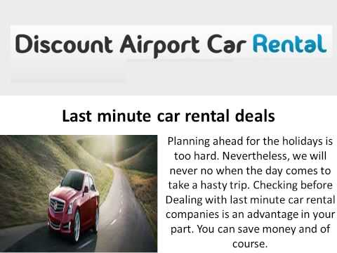 Discount Airport Car Rental in USA