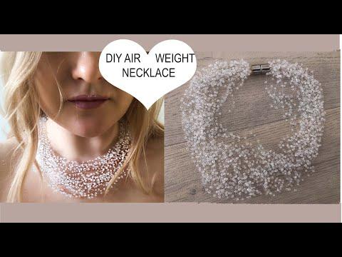 """EASY DIY BEADING TUTORIAL DIY Air Bead Necklace """"Cloud necklace"""""""