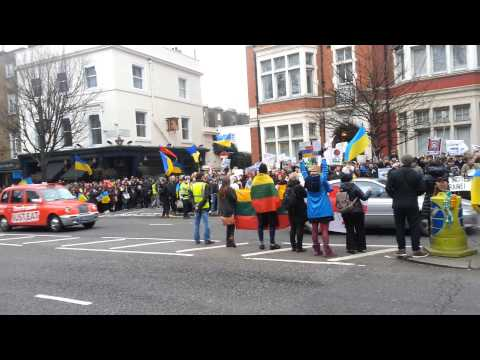 Protest rally Russian Embassy London