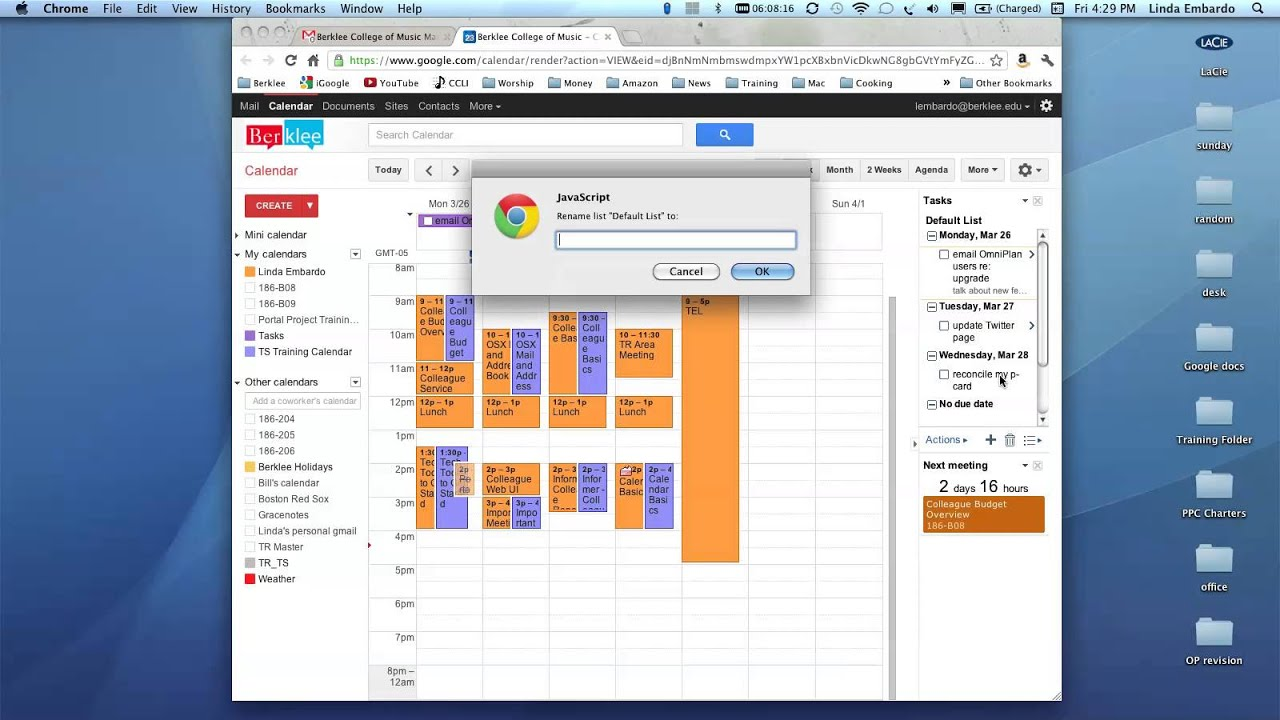 Creating tasks and to-do lists in Google Calendar - YouTube