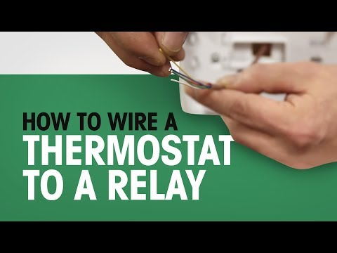 how to wire a thermostat to a relay