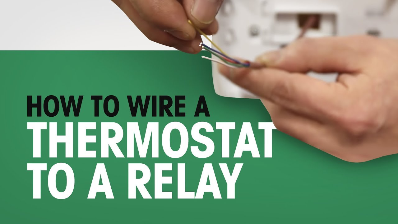 How to Wire a Thermostat to a Relay Relay Wiring For Thermostat on