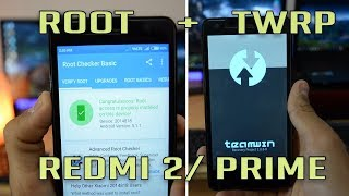 How to install TWRP REDMI 2 PRIME without pc NO #ROOT
