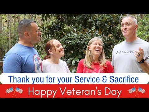 Happy Veterans Day – Thank You for Your Service and Sacrifice – We love you guys